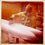 Surfboard glassing