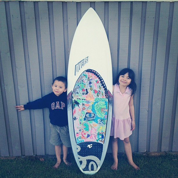 Kids @work @diversesurf #dynocore #boardart #customsurfboards #foreveryoung #fresh #boardporn