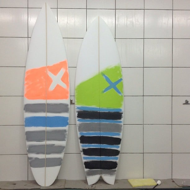 #onemore #brushpainted #customsurfboard #foryou