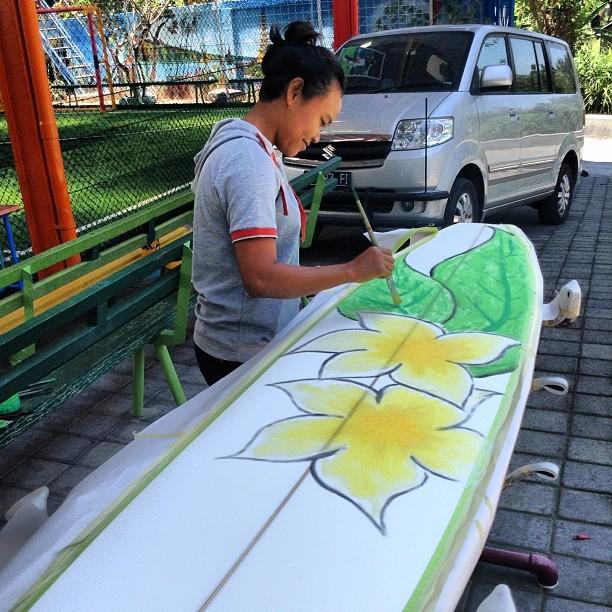 #ayu #handpainted #custom #longboarding #balimadebaligood