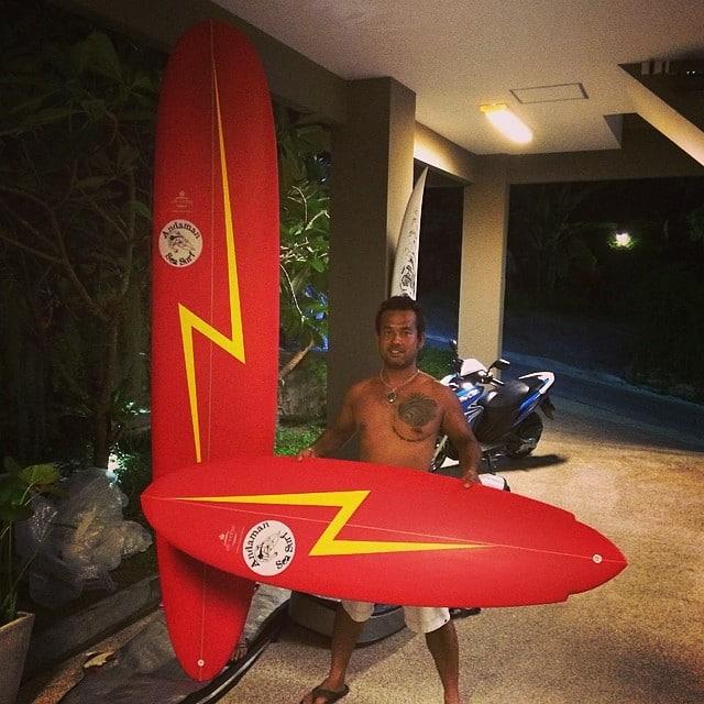 Day Lopez of #surfingthailand #custom #singlefin #longboard