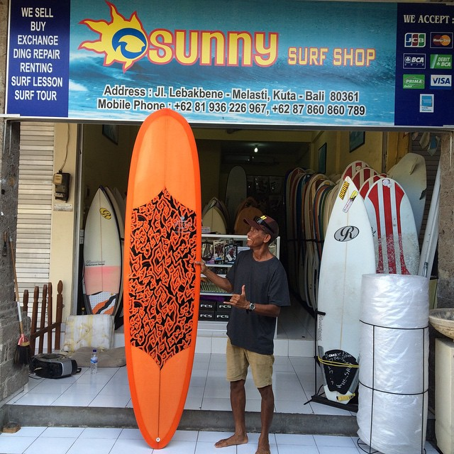 #sunshine #lollipops #rainbows #8footers #tint #orange #batik #balimadebaligood #custom #pu #longboard #sunnysurfshop