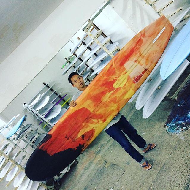 #resin #is #onfire #pu #Colorful #longboard