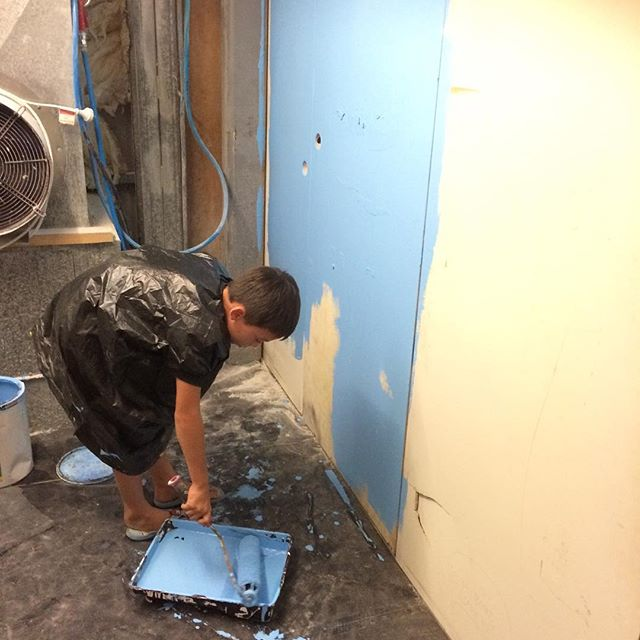 #slavelabour #factoryfun #painting #blue