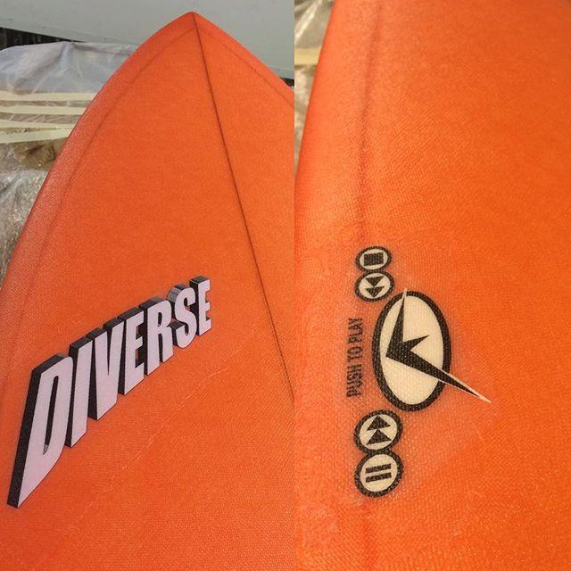 #burntorange #dq #quadfin #fishsurfboard #custom #resintint #pushtoplay