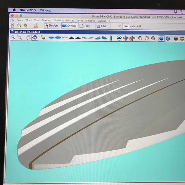 #morningdesign #6channel #s3dx @shape3d #customsurfboard