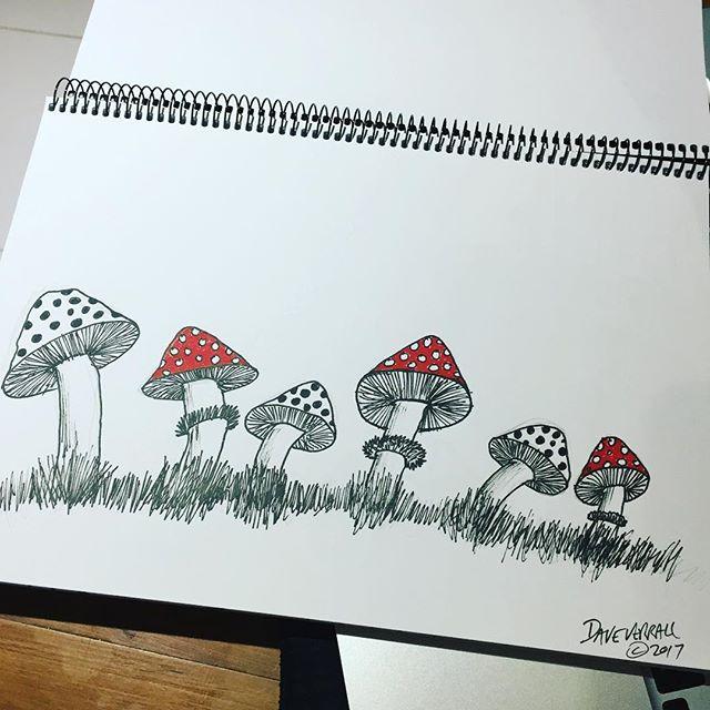 #mushroom #fungi #drawing #homework #surfboardart