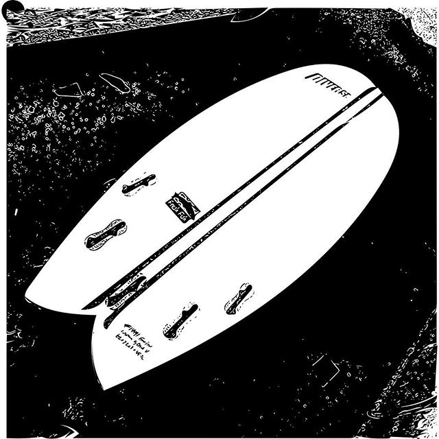 #blacknwhite #surfboard #timeless #fish #fun #forever #freshfish