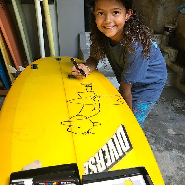#customsurfboard #own #art #posca #tasty @andaman_sea_surf_1999