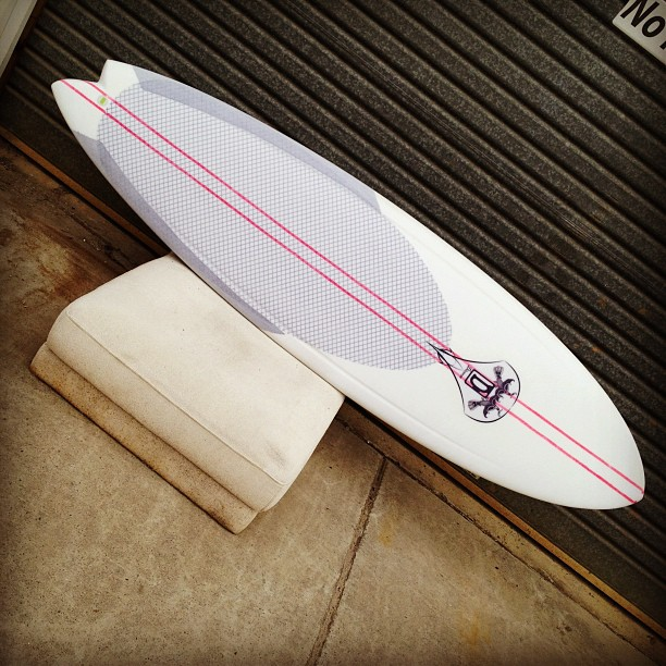 Assymetrical @diversesurf #dynocore has it all covered for #customsurfboards