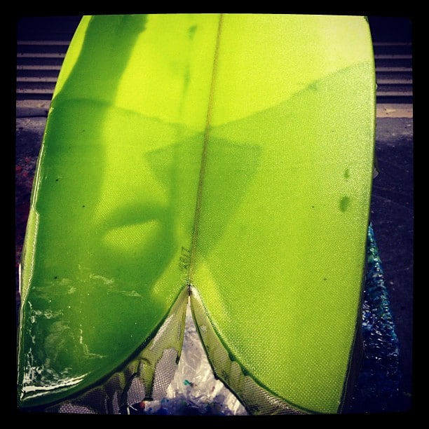 #livingthedream #greenmachine @diversesurf with #resincolors and #freelaps #modernvintage #quad