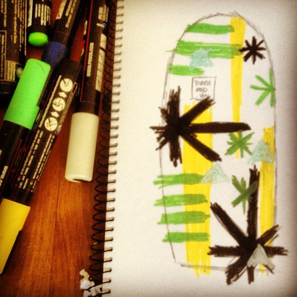 #customart #poscapens #surfboarddesigns #planningahead @diversesurf #modernvintage