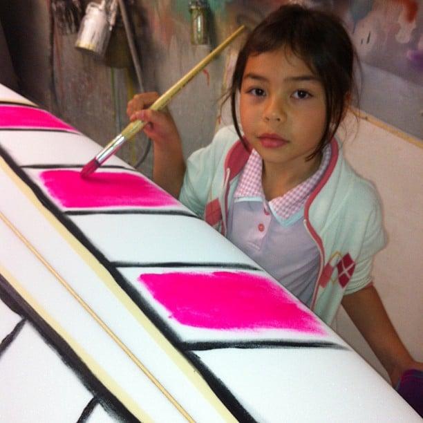 #flouro #foamart #childlabour #pink #customsurfboard #shaped #art @diversesurf #modernvintage #surfshapes