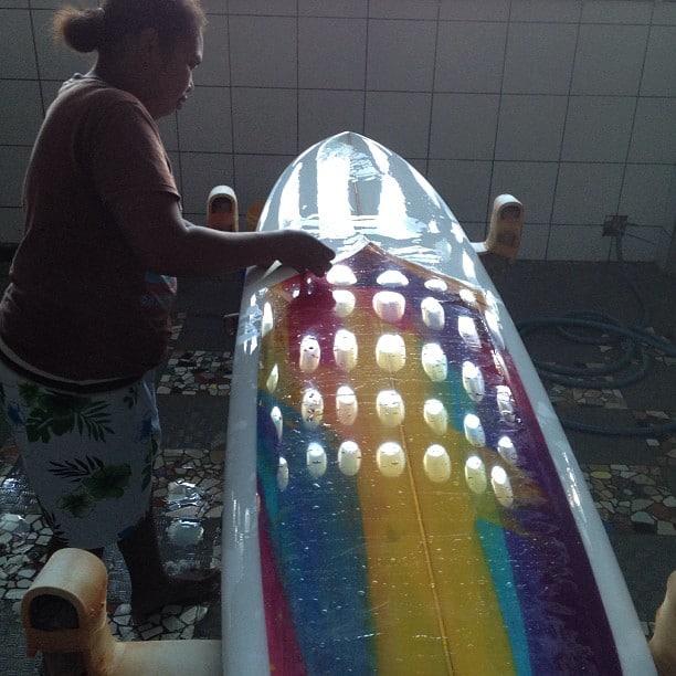 #shiny #polished #surfboards #girlsmakingsurfboards #awas