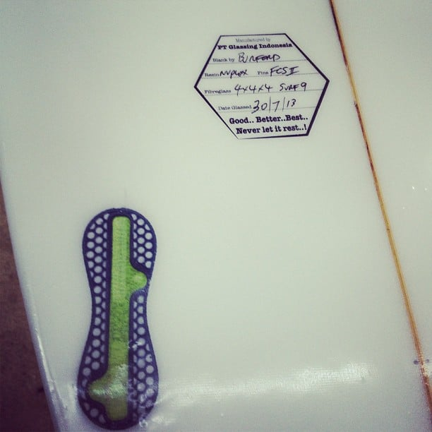#fcs2 #burfordblanks #surf9 #fibreglass