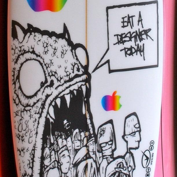 #oldart #isgood #boardart #apple #designer #cynical #creations
