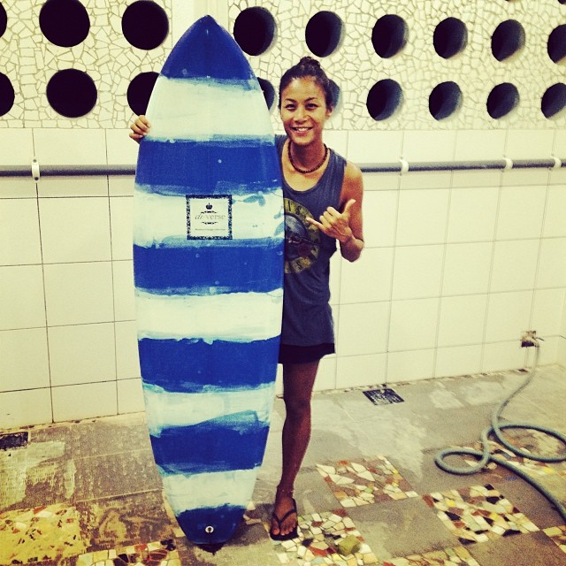 #stripey #customsurfboards with #resinart are cool