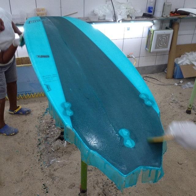 #nice #blue #epoxy #color #resinart #custom #glassing #laminating #surfboard