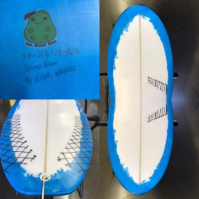 #broadbean #resinart #classic #pu #surfboards @sideways_surf #today #5'10