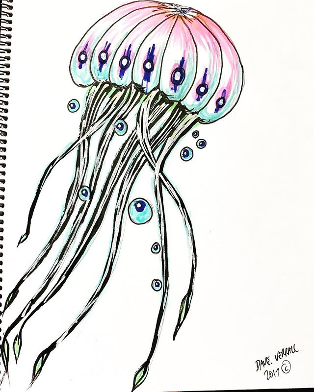 #sketchy #jellyfish #drawingoftheday