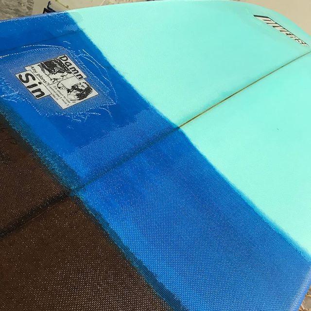 #damsin #resinart #custommade #surfboard order for #thailand