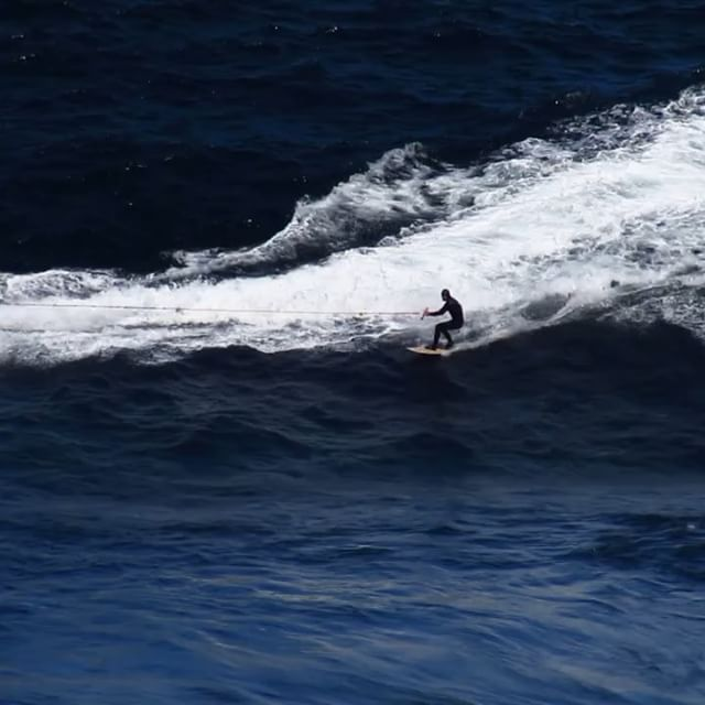 @james_hollmer_cross getting it done in #cold #Tasmania #wooden #towboard by @diversesurf